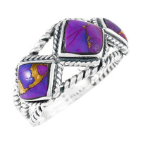 Purple Turquoise Ring Sterling Silver R2453-C77