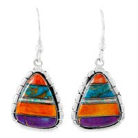 Sterling Silver Drop Earrings Turquoise E1326-C00