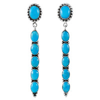 Turquoise Earrings Sterling Silver E1329-C75