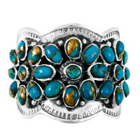 Matrix Turquoise Ring Sterling Silver R2433-C84