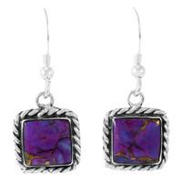 Purple Turquoise Earrings Sterling Silver E1271-C77