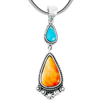 Spiny Turquoise Naja Pendant Sterling Silver P3061-C91