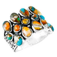 Spiny Turquoise Ring Sterling Silver R2415-C89
