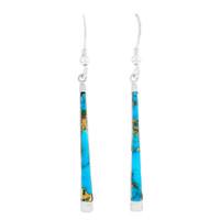 Matrix Turquoise Earrings Sterling Silver E1333-C84