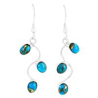 Matrix Turquoise Earrings Sterling Silver E1335-C84
