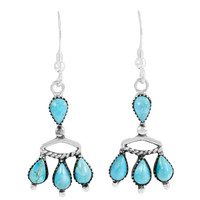 Turquoise Earrings Sterling Silver E1337-C75
