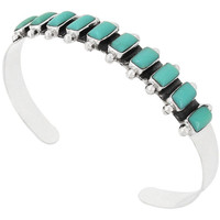 Turquoise Bracelet Sterling Silver B5441-C75
