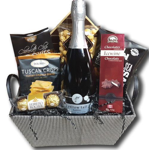Sparkling wine gifts to Canada