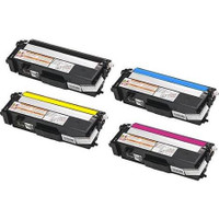 Compatible Brother TN310 Set of 4 Toner Cartridges: 1 each of Black, Cyan, Yellow, Magenta