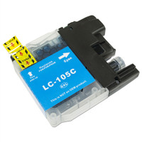 Compatible Brother LC-105C Super High Yield Cyan Ink Cartridge - Replacement Ink for MFC-J4310DW, J4410DW, J4510DW