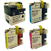 Compatible Brother LC-10E 4-Pack Super High Yield Ink Cartridges: LC-10EBK, LC-10EC, LC-10EM, LC-10EY