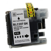 Compatible Brother LC207BK Extra High Yield Black Ink Cartridge