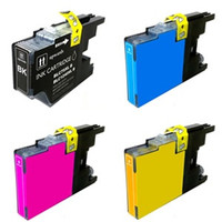 Compatible Brother LC75 High Yield Ink Cartridges 4 Pack Bundle