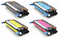 Remanufactured Canon 117 Series - Set of 4 Laser Toner Cartridges: 1 each of Black, Cyan, Yellow, Magenta