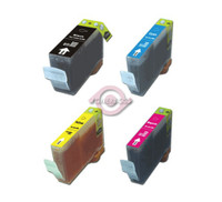 Compatible Canon BCI-3 - Set of 4 Ink Cartridges (BCI-3EBK ,BCI-3EC,BCI-3EM ,BCI-3EY)