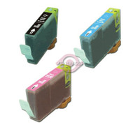 Compatible Canon BCI-8PB, BCI-8PC, BCI-8PM Ink Cartridges Set of 3