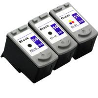 Compatible Canon PG-50, CL-51 Set of Ink Cartridges: 2 Black & 1 Color