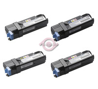 Compatible Dell 2130, 2135 Series - Set of 4 Laser Toner Cartridges: 1 each of Black, 1 Cyan, 1 Yellow, 1 Magenta