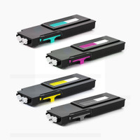 Compatible Dell C2660, C2665 Set of 4 High Yield Laser Toner Cartridges
