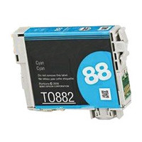 Remanufactured Epson T088220 (T0882) Cyan Ink Cartridge