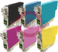 Remanufactured Epson Artisan 810 - Set of 6 Ink Cartridges: 1 each of Black, Cyan, Yellow, Magenta, Light Cyan, Light Magenta