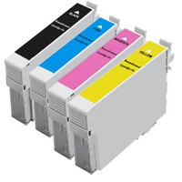 Remanufactured Epson T200XL - Set of 4 High Yield Ink Cartridges: 1 each of Black, Cyan, Yellow, Magenta