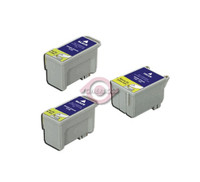 Remanufactured Epson T028201,T029201 - Set of 3 Ink Cartridges: 2 Black, 1 Color