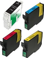 Remanufactured Epson Stylus C80 Set of 4 Ink Cartridges: 1 each of Black, Cyan, Yellow, Magenta