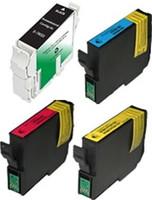 Remanufactured Epson Stylus C80 Set of 4 Ink Cartridges: 1 each of Black, Cyan, Yellow, Magenta