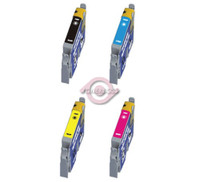 Remanufactured Epson Stylus Photo 950 - Set of 4 Ink Cartridges: 1 each of Black, Cyan, Yellow, Magenta