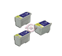Remanufactured Epson T040120,T041020 - Set of 3 Ink Cartridges: 2 Black, 1 Color