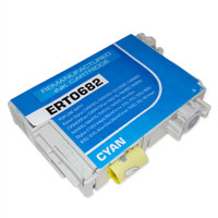 Remanufactured Epson T068220 (T0682) High Yield Cyan Ink Cartridge - Replacement Ink for Epson Stylus - C120, CX5000, NX510; WorkForce - 30, 610
