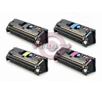 Replacement HP Color LaserJet 2550, 2840, 2820 (122A, 123A) Set of 4 Laser Toner Cartridges (1 Black, 1 Cyan, 1 Magenta, 1 Yellow)