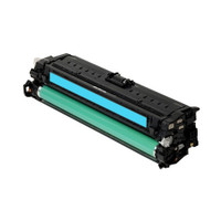 Compatible HP CE271A (650A) Cyan Laser Toner Cartridge - Replacement Toner for Color LaserJet CP5525