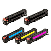 Remanufactured HP 312A (CF380A,CF381A,CF382A,CF383A) Toner Cartridges Set of 5 Compatible for Color LaserJet Pro M476dn,M476dw,M476nw