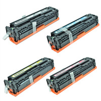 HP 128A Toner Cartridges 4Pack (CE320A, CE321A, CE322A, CE323A) For HP Color LaserJet CM1415, CP1525