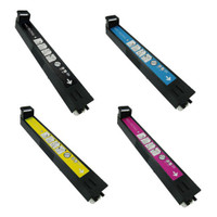 Remanufactured HP 823A / 824A for Color LaserJet CP6015 - Set of 4 Laser Toner Cartridges: 1 each of Black, Cyan, Yellow, Magenta