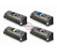 Remanufactured HP Color LaserJet 2550, 2840 - Set of 4 HP 122A Toner Cartridges: 1 each of Black, Cyan, Yellow, Magenta