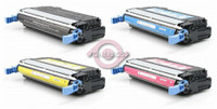 Remanufactured HP Color LaserJet 4730 - Set of 4 HP 644A Toner Cartridges: 1 each of Black, Cyan, Yellow, Magenta
