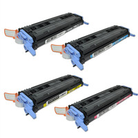 HP 124A Toner Cartridges 4Pack for HP Color LaserJet 1600, 2600, 2605