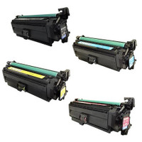 Remanufactured HP 654A Set of 4 (CF330X, CF331A CF332A, CF333A) Toner Cartridge for HP Color LaserJet Enterprise