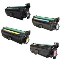 Remanufactured HP 654A Set of 4 (CF330X, CF331A CF332A, CF333A) Toner Cartridge for HP Color LaserJet Enterprise