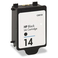 Compatible HP C5011DN (HP 14 Black) Black Ink Cartridge