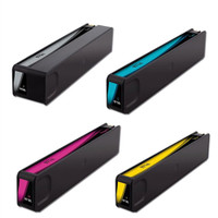 Remanufactured HP 970XL Black Ink, HP 971XL Inks Set of 4 High-Yield Inkjet Cartridges