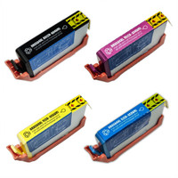 Remanufactured HP 564XL Set of 4 High Yield Ink Cartridges: 1 each of Black, Cyan, Yellow, Magenta