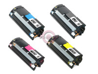 Remanufactured Konica-Minolta Magicolor 2400 Series - Set of 4 Laser Toner Cartridges: 1 each of Black, Cyan, Yellow, Magenta