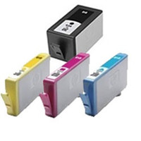 Remanufactured HP 920XL - Set of 4 Ink Cartridges: 1 each of Black, Cyan, Yellow, Magenta