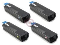 Remanufactured Okidata C5200 Series - Set of 4 Laser Toner Cartridges: 1 each of Black, Cyan, Yellow, Magenta