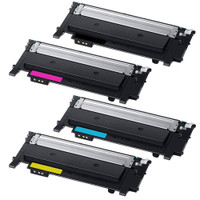 Compatible Samsung CLT-K404S, CLT-C404S, CLT-Y404S, CLT-M404S Laser Toner Cartridges - Replacement 4-Color Toners for Samsung Xpress C430W, C480W
