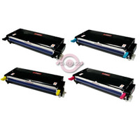 Remanufactured Xerox Phaser 6180 - Set of 4 Laser Toner Cartridges: 1 each of Black, Cyan, Yellow, Magenta